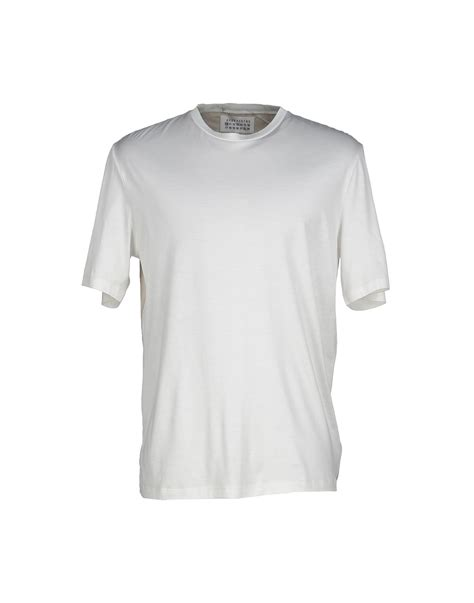 maison margiela t shirt in white for lyst