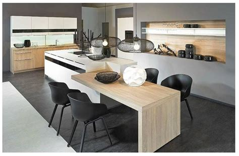 cuisine alno technodesign alno cuisines îlot central bois design