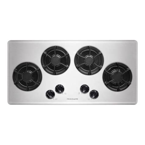 stainless steel gas cooktop frigidaire 36 in recessed gas cooktop in stainless steel