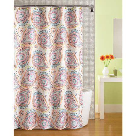 Mainstays Print Paisley Fabric Shower Curtain Walmartcom