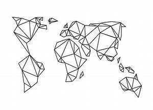 Buchstaben Schablone Metall : geometrische erde als leinwandbild von eulenschnitt juniqe tattoo pinterest juniqe ~ Frokenaadalensverden.com Haus und Dekorationen