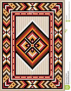 Asian design in the frame for carpet stock vector for Drawing of carpet design
