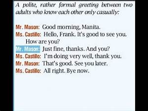 English Conversations: Greeting People and Resposding ...