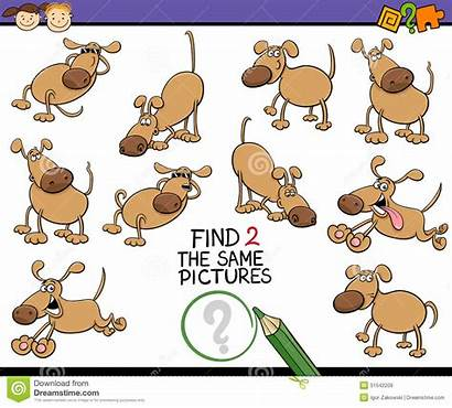 Same Cartoon Finding Children Illustration Mental Happy