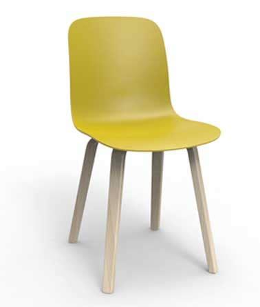 chaise de couleur en plastique 6 chaises design pas chères aux couleurs stylées