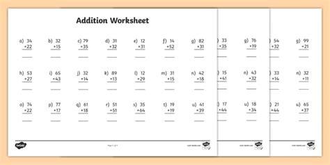 2 digits addition with decimal 2 digit number addition worksheets