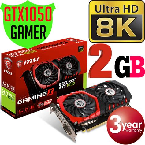 In addition to their usefulness in playing 4k videos, they are also capable of. MSI Nvidia GeForce GTX1050 Gaming X 2GB VR 4K 8K Graphics Card GTX 1050 PC NEW   eBay