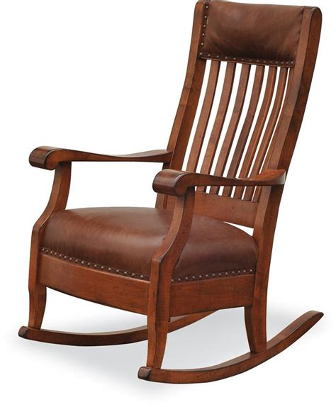 solid wood rocking chair plan amish upholstered s rocker with optional footstool