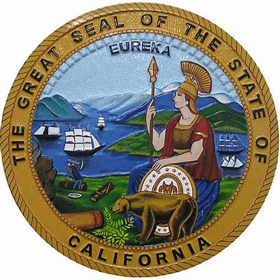 Seal California State Symbol Candidates Plaque Official