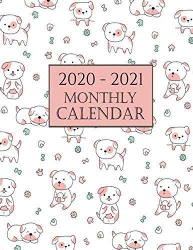 monthly calendar cute dog  dog wall cale