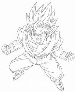 Lineart - Goku SSJ2 by el-maky-z on DeviantArt