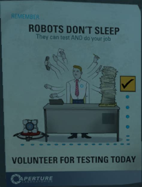 aperture science posters portal   mary sue