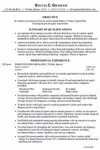 Resume: Investment Associate, Venture Capital - Susan ...
