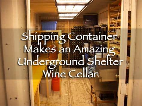 shipping container   amazing underground shelter