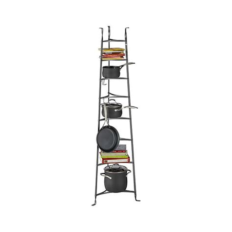 Standing Pot Rack by Enclume 174 Standing 8 Tier Pot Rack Crate And Barrel