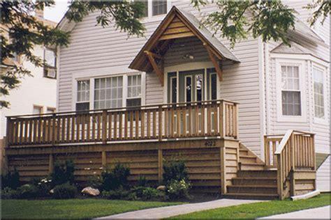 Front Porch Deck by Front Porch Wood Deck Design Quotes Home Plans