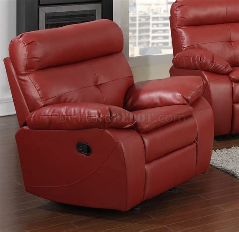 red sectional sofa with recliner g570a reclining sofa loveseat in red bonded leather by glory