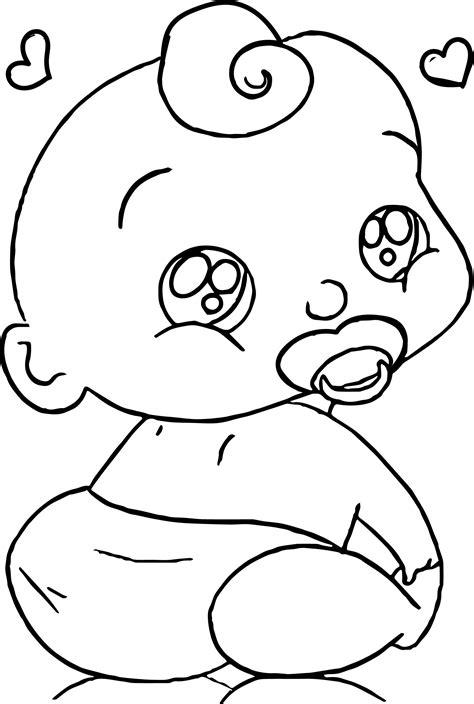 baby boy cartoon faces coloring page wecoloringpagecom