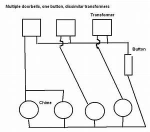 One Doorbell Button To 4 Doorbells  Chimes