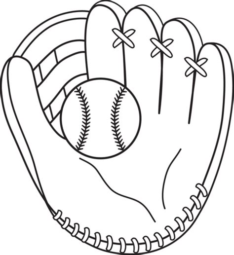colorable baseball  mitt  clip art