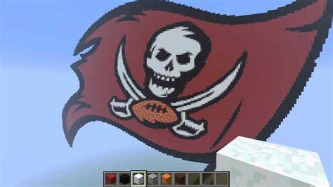minecraft pixel art tampa bay buccaneers logo youtube
