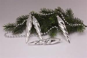 Weihnachtskugeln Aus Lauscha : silber glanz uni christbaumkugeln christbaumschmuck und ~ Orissabook.com Haus und Dekorationen