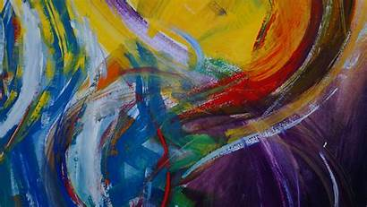 Colorful Abstraction Modern Paint Fhd 1080p Background