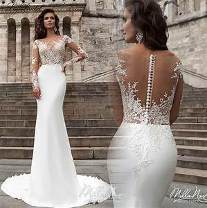 robe de mariage new arrival mermaid wedding dresses 2017 With wedding dresses with sleeves 2017
