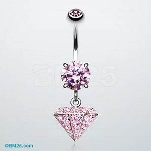 Belly button rings, Belly button and Diamonds on Pinterest