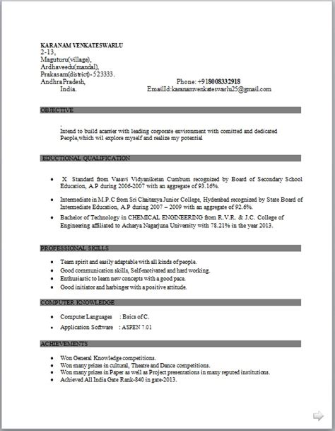 Chemistry Research Experience Resume by Resume Co Resume Sle Of Bachelor Of Technology In