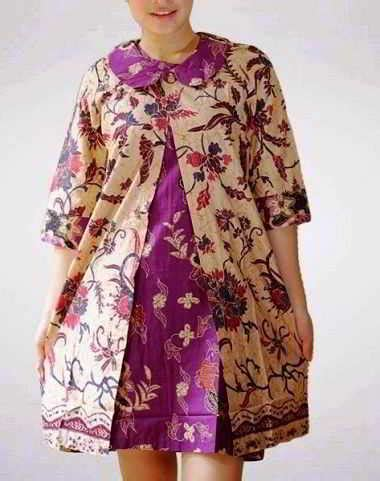 contoh model baju batik  ibu hamil modern terbaru