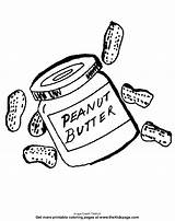 Coloring Pages Peanut Butter Peanuts Colouring Printable Sheets Clip Template Clipart Jelly Drawings Snoopy Templates Fall Library sketch template