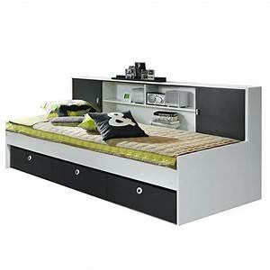 Bett Mit 2 Schlafgelegenheit : funktionsbett manuel 90 200 cm wei grau funktionsbetten ~ Bigdaddyawards.com Haus und Dekorationen