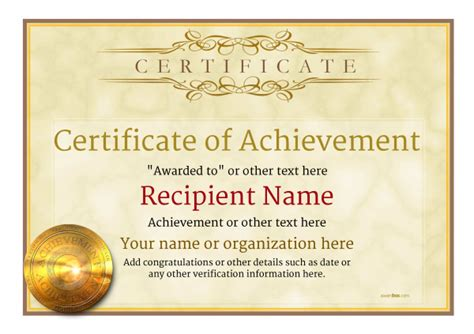 home layout certificate of achievement free templates easy to use
