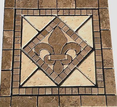 picture of kitchen backsplash 18 quot noce marble fleur dis lis mosaic medallion design