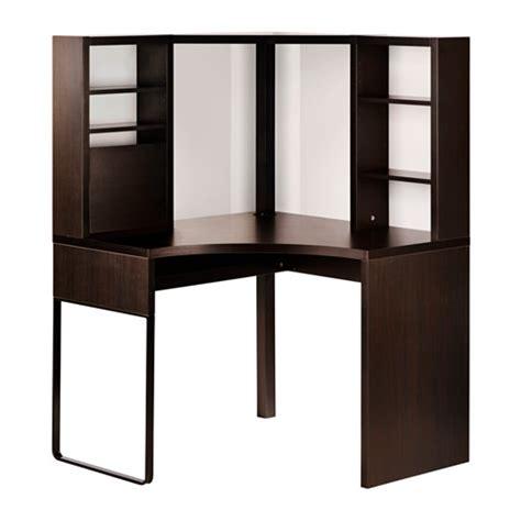 ikea bureau travail micke poste de travail d 39 angle brun noir 100x142 cm ikea