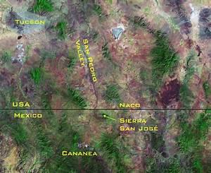 Index Map Showing The Sierra San Jose Mountain Range In