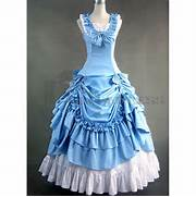 Sleeveless Bowknot Ruffles Multi-Layer Blue Gothic Victorian Dress  Blue Gothic Prom Dresses