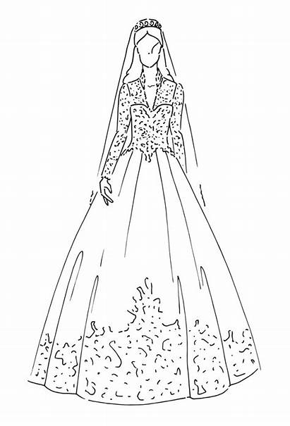 Royal Dresses Kate Gown Catherine Sketch Queen