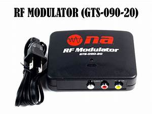 Rf Modulator Tv Switch Audio Video Rca Ant Input To F Type Coax Output Converter 719906873556