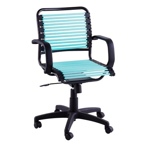 turquoise flat bungee office chair  arms