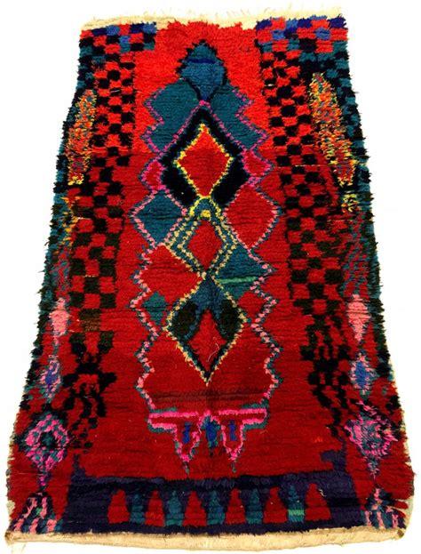 moroccan boucherouite rug moroccan berber rug boucherouite 210 x 115 cm