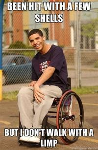 Drake Wheelchair Meme - wheelchair drake image gallery know your meme