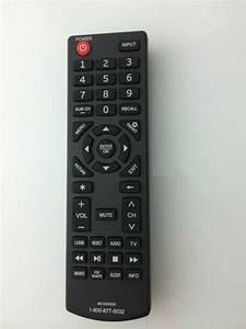 New Sanyo Remote Mc42ns00 For Sanyo Roku Dp65e34 Dp39d14
