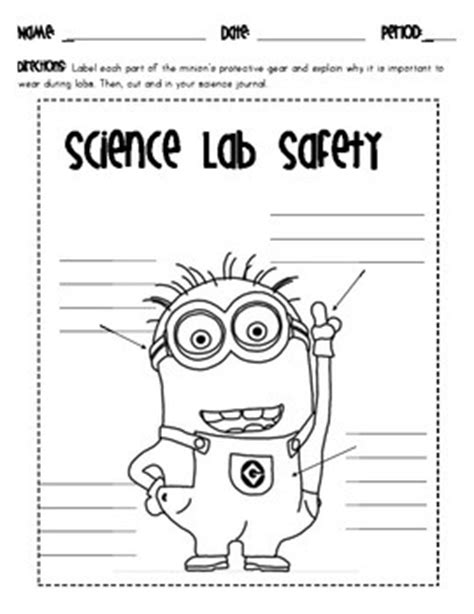 Minion Science Lab Safety By A Teacher In Her Thirties Tpt