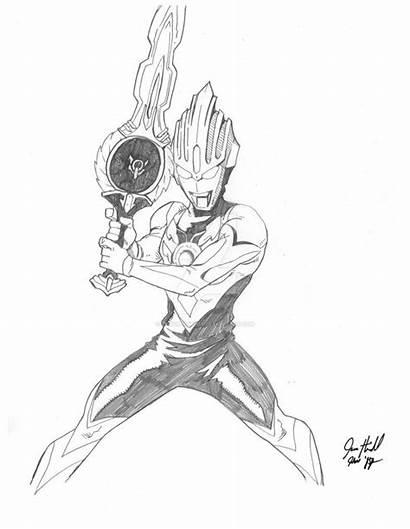 Ultraman Orb Origin Drawing Mewarnai Sketch Heichel