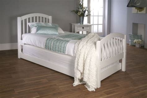 limelight despina ft single white wooden bed  guest
