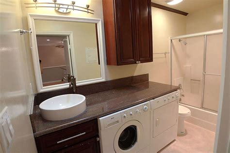 Bathroom Design With Washer And Dryer by Bathroom Idea With Washer Dryer Counter Space