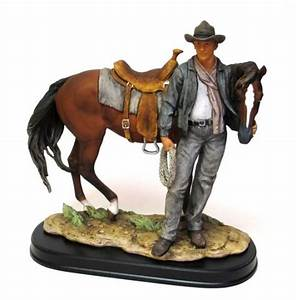 Modern Cowboy with Horse - Discount Gifts Online
