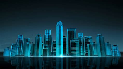 Excel Digital Wallpaper 3d by Construction Building City Skyline And Make City In